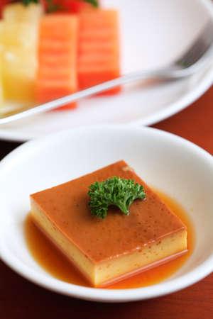 flan: Pudding Stock Photo