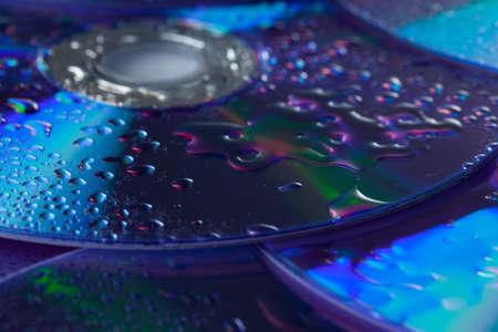 wet DVD close up