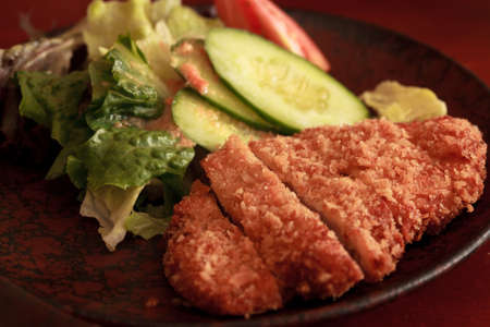 Japanese fried pork photo