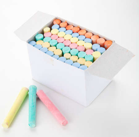 Colorful chalks Stock Photo