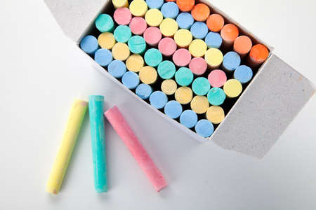 Colorful chalks Stock Photo