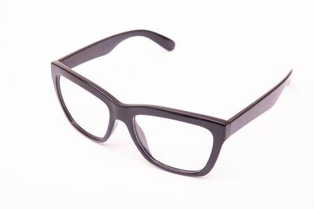 Black Eye Glasses Isolated on White Imagens
