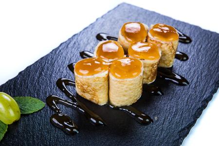 Sweet sushi. Restaurant food concept.