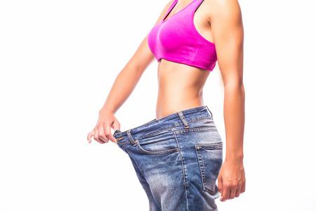 体重減少。 写真素材