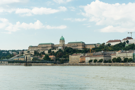 gloaming: Budapest, Hungary - 15 August 2016. picturesque view on Budapest and Danube Editorial