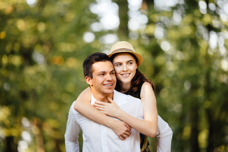 affectionate: Affectionate couple Stock Photo