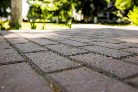 Stone paving texture. Abstract structured background Stock Photo