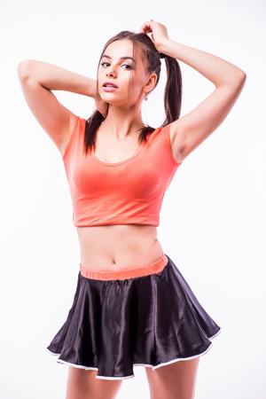 confortable: Cheerleader Stock Photo