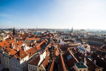turistic: 13 November 2016, Prague, Chezh Republic. View of Prague like a point of turistic destinations