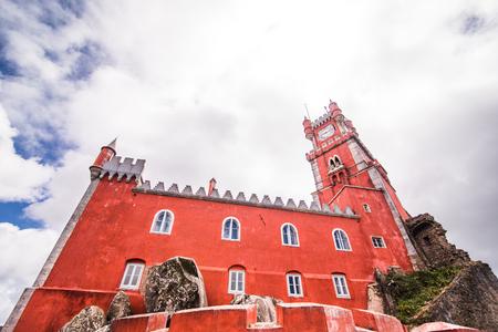 Pena National Palace in Sintra, Portugal. Palacio Nacional da Pena