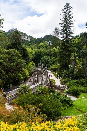 Quinta da Regaleira is a World Heritage Site by UNESCO within the Cultural Landscape of Sintra Portugal