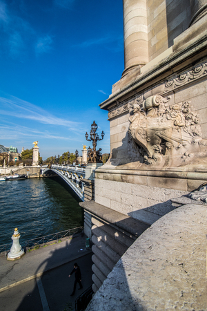Paris. Image of the Alexandre III Bridge located in Paris, France.