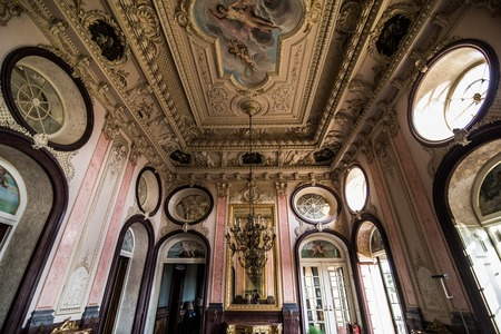 Estoi, Portugal - July, 2017: Estoi Palace and garden Estoi Algarve Portugal