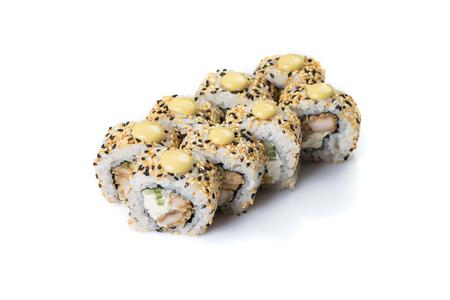 Sushi Roll set on isolated on white background