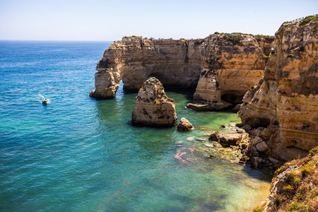 Praia da Marinha Navy Beach - Algarve. According to Michelin guide its one of the most beautiful beaches of Portugal, in all of Europe and the World Awarded with the distinguished Golden Beach .