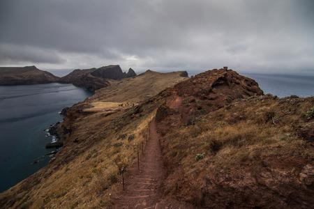 Madeira hiking on Ponta de Sao Lourenco peninsula, Portugal