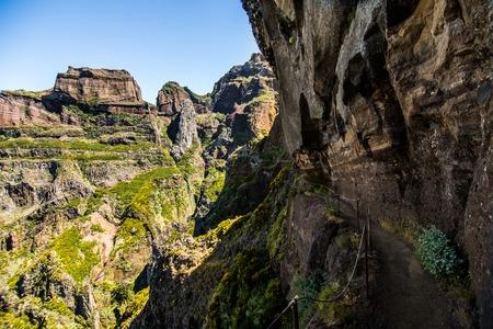 Hike between Pico do Areeiro and Pico Ruivo, Madeira, Portugal