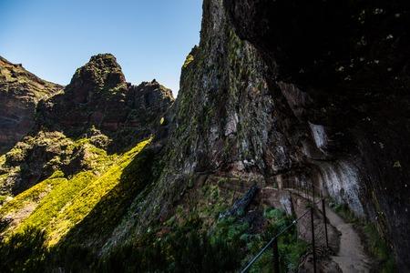 Hike between Pico do Areeiro and Pico Ruivo, Madeira Stock Photo