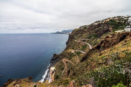 Ocean coast view on Madeira island, Portugal