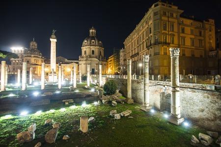 Ruins of Forum Romanum on Capitolium hill in Rome, Italy 版權商用圖片