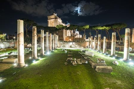 Ruins of Forum Romanum on Capitolium hill in Rome, Italy