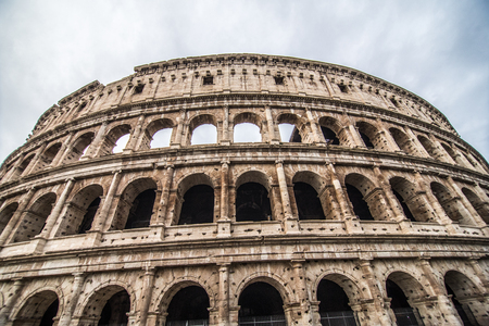 Colosseum in Rome Italy is one of the main travel attractions. Scenic view of Colosseum.