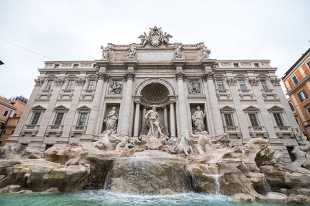 Rome, Italy - November, 2018: Trevi Fountain in Rome, Italy. Trevi is most famous fountain of Rome. Architecture and landmark of Rome, Postcard of Rome 新聞圖片