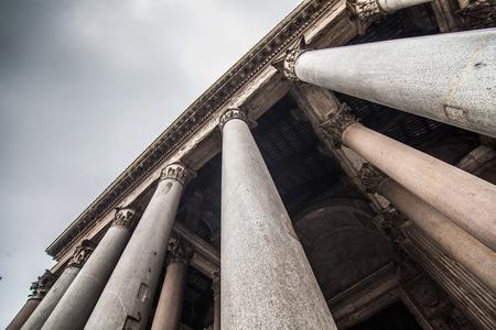 Ancient Roman Pantheon temple, front view - Rome Italy Reklamní fotografie - 122426707