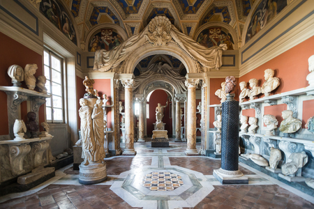 Vatican, Italy - November, 2018: The museum of Vatican with gallery