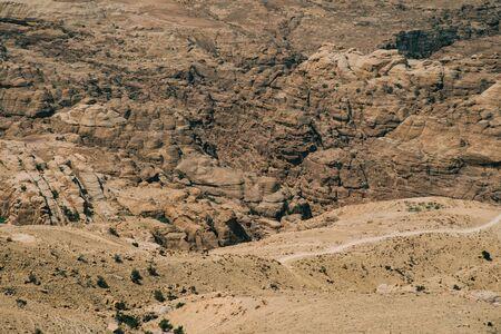 View of Wadi Rum Desert and Mountains in Jordan