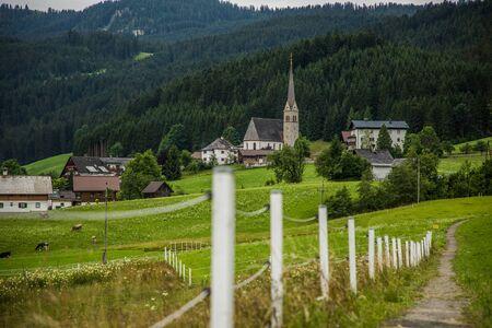 Austria - July, 2019: Country road in the alps Archivio Fotografico