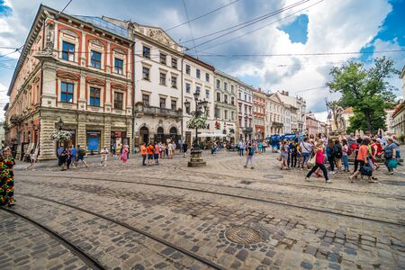 Lviv, Ukraine - June, 2019. Lviv city view historical city center in Ukraine, Western Ukraine