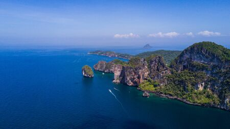 Panorama Top View Tropical Island , Aerial view of Phi-Phi Islands, Krabi, Thailand. Reklamní fotografie