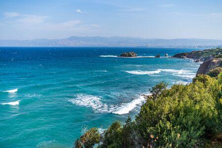 The Baths of Aphrodite is famous tourist destination, Cyprus. 免版税图像