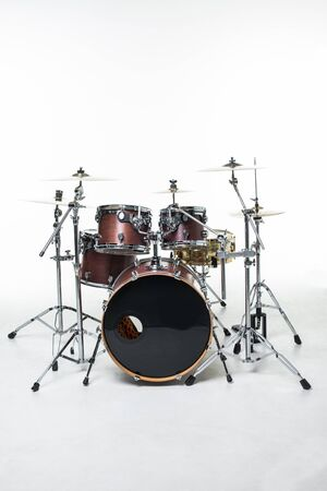 drums set isolated on white - studio shoot