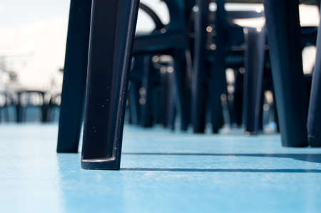 Chairs on a deck with a blue ground. Stock Photo - 7489672