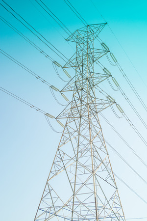 hight: the hight voltage electricity pole under the blu sky
