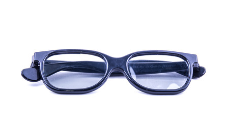 eye wear: the sun glasses on the white background ideal for eye wear and healthy Stock Photo
