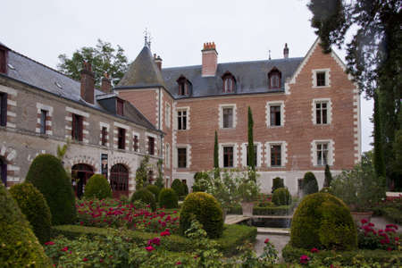 atilde: Facade of the Clos Lucè castle seen from the gardens Editorial