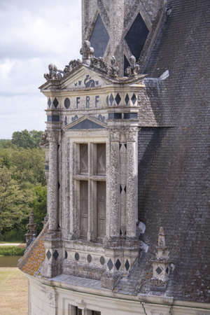 window on the roof of the chateau of Chambord photo