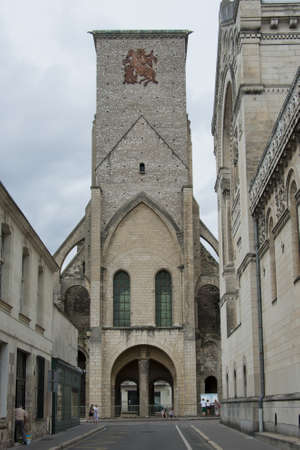 touraine: the tour charlemagne, the rest of the great church of saint martin, destroyed during the french revolution