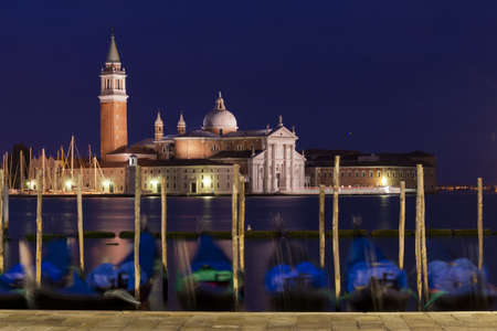 the church of san giorgio maggiore in the venetian lagoon, seen from riva degli schiavoni Stock Photo