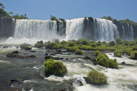 part of the iguazu falls, seen from the brazilian side, one of the worlds seven natural wonders photo