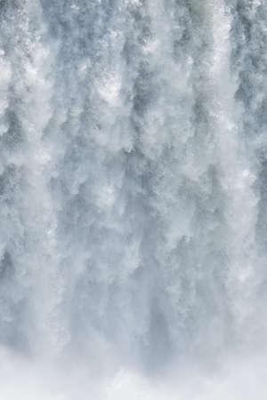 natural wonders: waterfall in the magnificent garganta del diablo at the iguazu falls, one of the seven natural wonders of the world