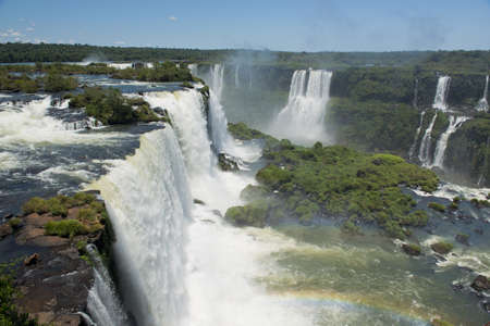 the magnificent garganta del diablo at the iguazu falls, one of the seven natural wonders of the world photo