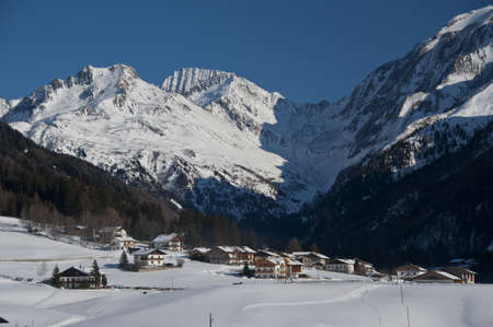 sudtirol: the snowy village of st jakob in pfitsch, sudtirol