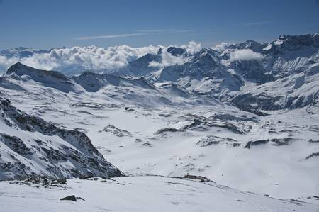 peaks in valtournanche, near the Matterhorn