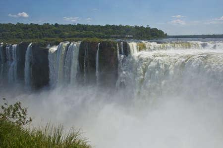 natural wonders: the magnificent garganta del diablo at the iguazu falls, one of the seven natural wonders of the world Stock Photo