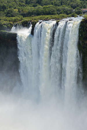 the magnificent garganta del diablo at the iguazu falls, one of the seven natural wonders of the world Stock Photo
