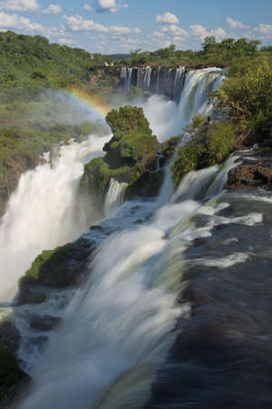 natural wonders: the magnificent waterfalls of Iguazu, one of the seven natural wonders of the world, between Argentina and Brazil.